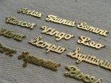 """BRASS""""ZODIAC"""" Spelling charm"""