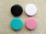 Plastic Opaque Flat-Round Beads