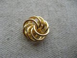 Vintage Goldplated Knot Beads(M) 2個いり