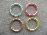 Vintage Pearlized Plastic Ring Beads