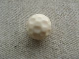 Vintage Ivory Hammered Ball Beads