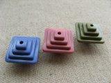 Vintage 3D Square Step Beads