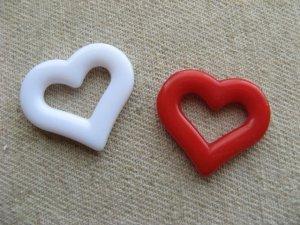 画像1: Vintage Heart W/Hole Beads
