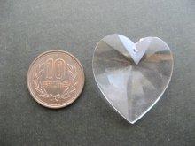 他の写真2: Vintage Plastic Clear Heart Big Pendant