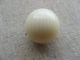 Vintage Ivory/Cream Striped Ball Beads 18mm