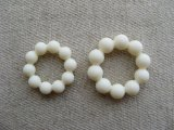 Vintage Ivory Ball Ring Beads