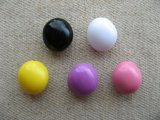 Plastic Simple Beans Beads 2個いり