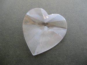 画像2: Vintage Plastic Clear Heart Big Pendant