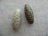 Vintage style Acrylic Flower Dot Tube Beads 2個いり