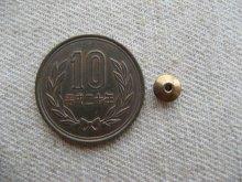 他の写真1: Brass Tiny Bicone Beads 4個いり