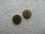 Brass Tiny Spacer Beads 2個いり