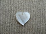 Vintage Mother of Pearl Heart Mini Pendant