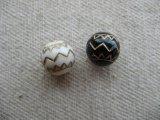 Vintage style Acrylic Ethnic Border Beads 2個いり