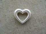 Vintage Pearl White Heart Drop
