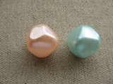 Vintgae Pearlized Bicone Beads