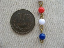 他の写真1: 30cm Tri-color 6mm Beads Link Chain