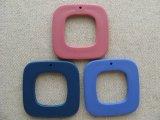 Vintage Plastic Flat Square Pendat Beads
