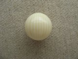 Vintage Ivory/Cream Striped Ball Beads 16mm