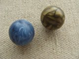 Vintage Plastic Matt Marble Ball Beads