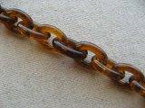 Vintage Plastic Tortoise Chain【Oval:14mm】
