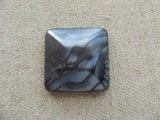 Vintage Faux MOP Black Marble Square Cabochon