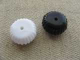 Vintage Fluted Edge Round Spacer Beads (S)