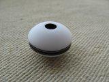 Vintage White+Black Line Spacer Beads