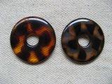 Plastic Tortoise Flat Donut Ring 30mm