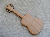 "Laser cut wood ""Guitar""pendant"