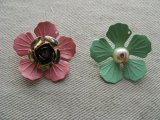 Vintage Metal Floral Charm