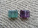 Plastic Marble Flat Rectangle Beads (Mini) 2個いり