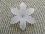 Vintage Acrylic Big Flosted Flower Beads