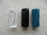 Vintage Plastic Twist Fluted Tube Beads