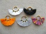 Gold Ring Fan Silk Tassel