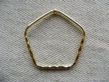 Goldplated Pentagon Hoop