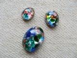 Glass Multi Opal Cabochon