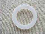 Vintage Frost White Ring Beads