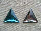 Vintage Crystal Faceted Triangle Cabochon