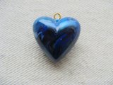 Vintage Plastic Mable Blue Puffy Heart