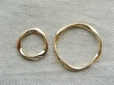 Goldplated Annular Ring 2個入り
