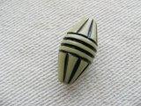 Vintage Plastic Olive/BK Diamond Beads