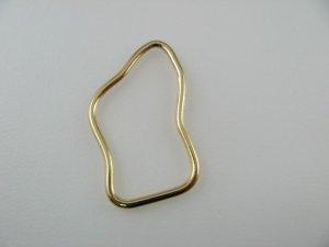 画像2: Goldplated Irregularity Ring 2個入り