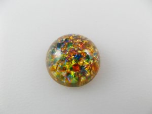 画像1: Glass Round R-Multi Opal Cabochon 15mm