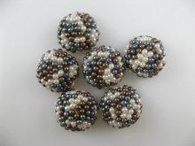 他の写真3: Vintage Plastic Pearl Weave Cabochon