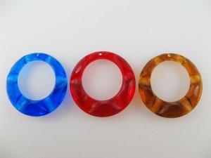画像1: Vintage Plastic Clear 1-Hole Ring