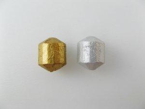 画像1: Vintage Matte Metal Barrel Beads