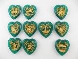 Vintage Glass Zodiac Pendant【Green】