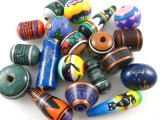 Vintage Andean Style Pottery Beads アソート4個