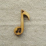 """Wood charm """"Music Note"""""""