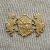 Brass Crest with 2 Lions